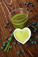 Alga Spirulina e chlorella